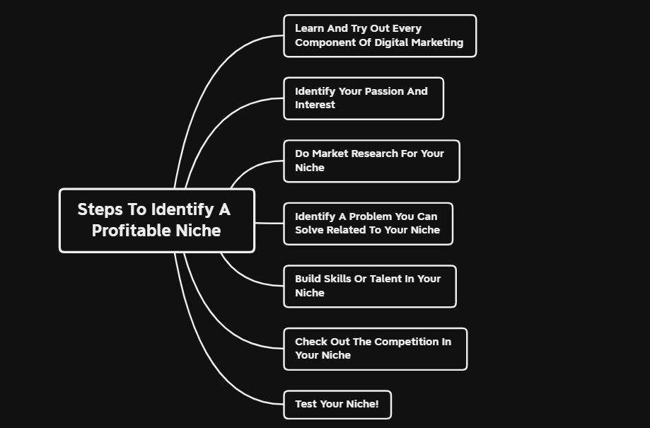 steps to identify a profitable niche